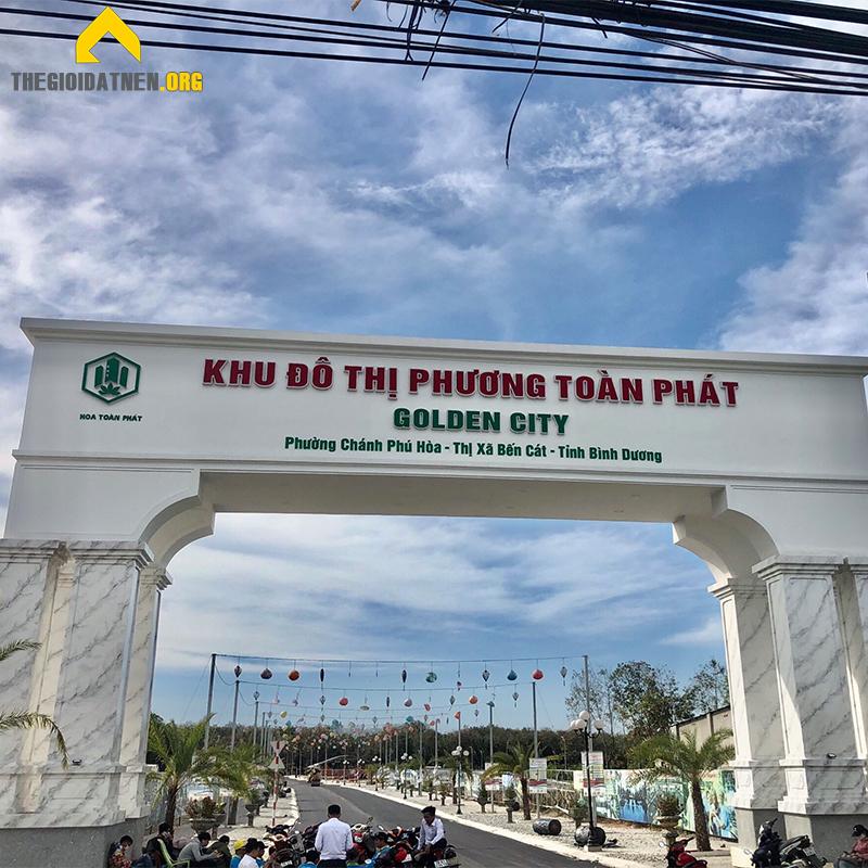 Cổng chính dự án phương toàn phát golden city Bình Dương
