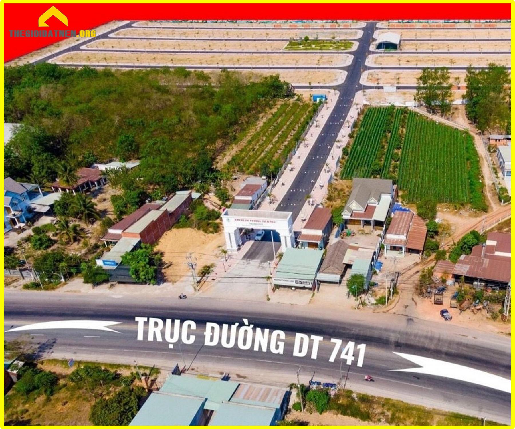 Phương Toàn Phát nằm ngay mặt tiền DT 741