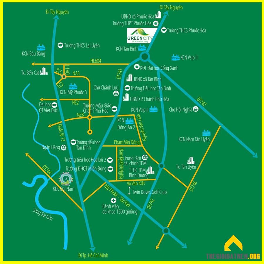 Vị trí đắc địa của Phương Trường An 5 Green City
