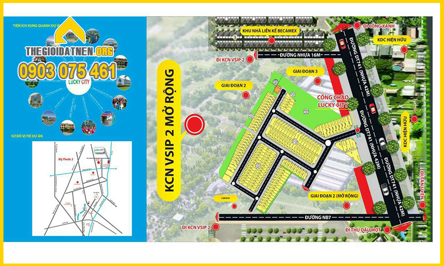 Vị trí đắc địa của INCO CITY Bình Dương, giá chỉ từ 780 triệu/nền với diện tích 72-150m2