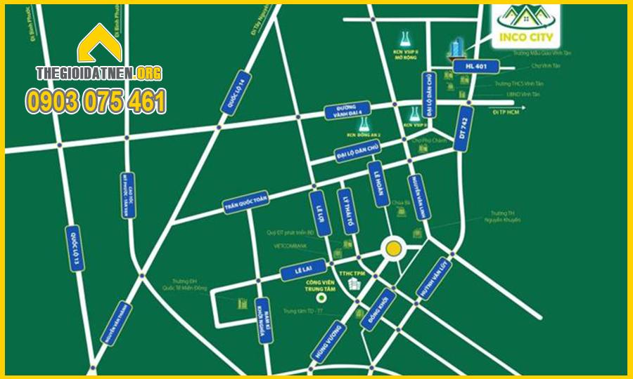 Dự án Toàn Thắng Vĩnh Tân tọa lạc tại vị trí đắc địa bật nhất